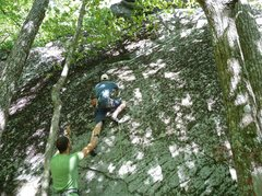 Rock Climbing Photo: Starting up Outer Bounds as Jakob worships me