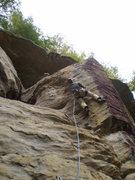 Rock Climbing Photo: Enjoying the juggy steepness