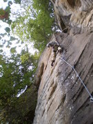 Rock Climbing Photo: Great route with some scary clips