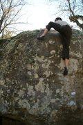 Rock Climbing Photo: Travis Horne Finishing the love up.