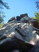 "Rock Climbing Photo: This is looking up ""Ramsay's Ramp"" 5.7"