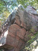 Rock Climbing Photo: Start at the low corner and climb up and right to ...