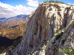 Rock Climbing Photo: Table Mountain, NW face of the main buttress. Cres...