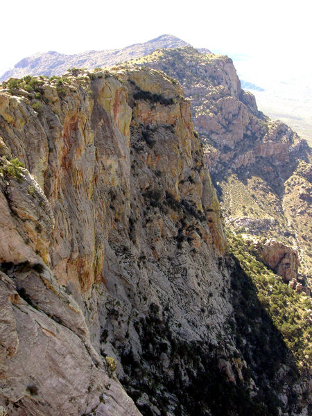 View of the west face of Table Mountain (Modern Day Warrior) from atop the main buttress.