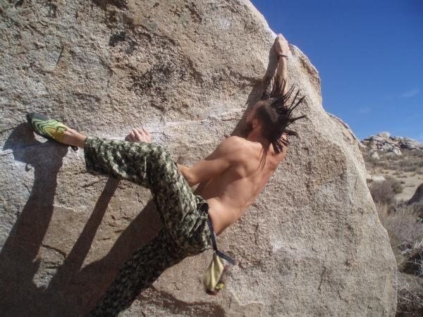 Rock Climbing Photo: iron man