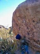 Rock Climbing Photo: smooth moves dyno v8 hueco 08/09