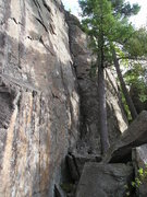 Rock Climbing Photo: Shiska Bob, 5.6 is between the 2 trees, and not ve...