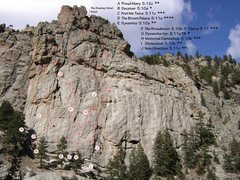 Rock Climbing Photo: New Direction and surrounding routes.