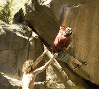 Rock Climbing Photo: good deadpoint