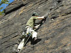 Rock Climbing Photo: Climbing the Goat Crack