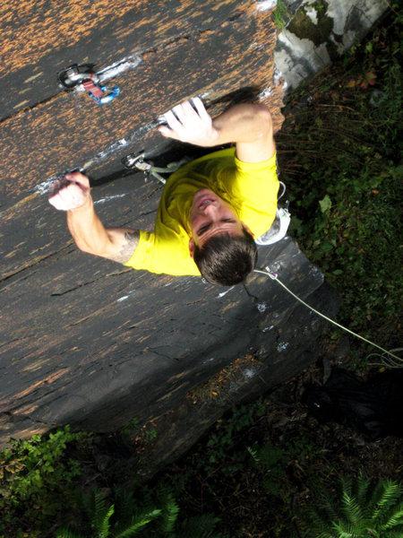 Rock Climbing Photo: Justin up high
