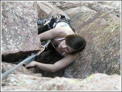 Rock Climbing Photo: climbing the yellow spur