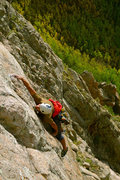 Rock Climbing Photo: Matt Barela pulling the crux of the direct 4th pit...