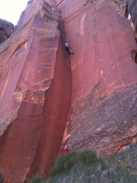 Rock Climbing Photo: Crescent Crack/Corner at the Petrified Hornet Wall...