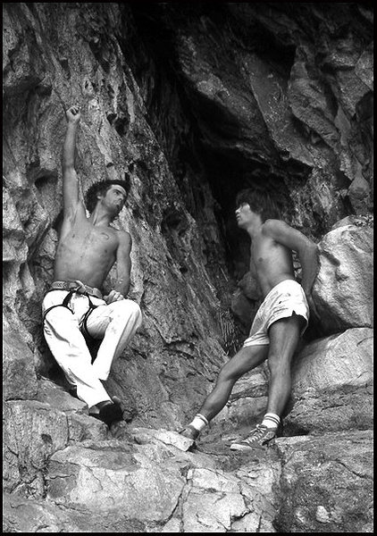 Paul Grawford and Dan Osman at The Main Cave.<br> Photo by Blitzo.