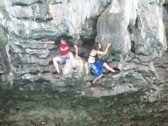 Rock Climbing Photo: deep water soloing: krabi, thailand