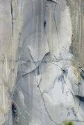 Rock Climbing Photo: Ryan Huetter on the spectacular Nipple pitch.  Jos...