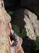 Rock Climbing Photo: Fifth pitch.