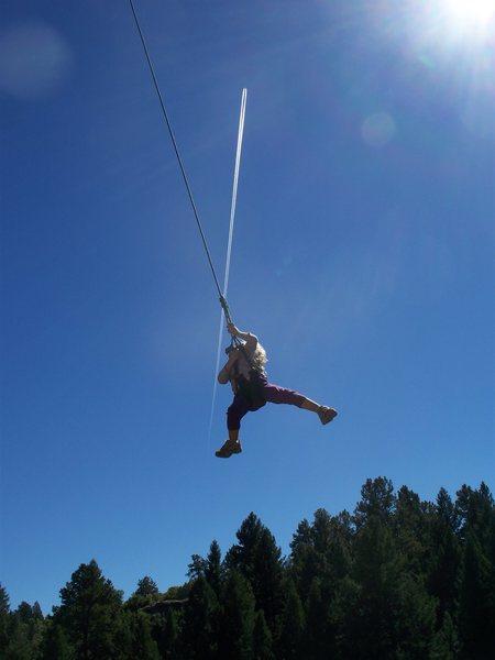 Norah taking the king swing!