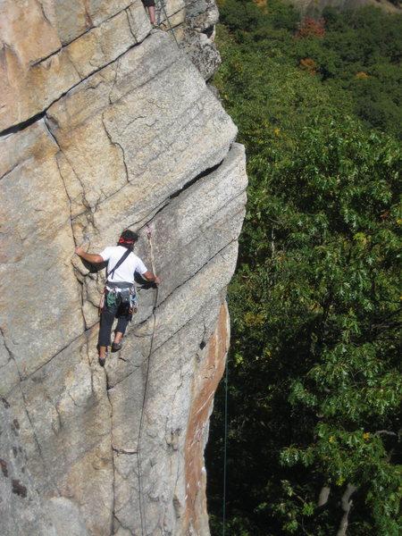 Rock Climbing Photo: Climber on Birdland 10/2010