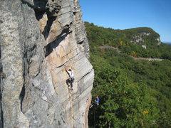 Rock Climbing Photo: Climbing and rapping Birdland.
