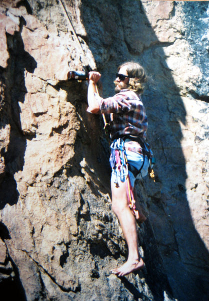 The Hammer climbing in style, 1989.