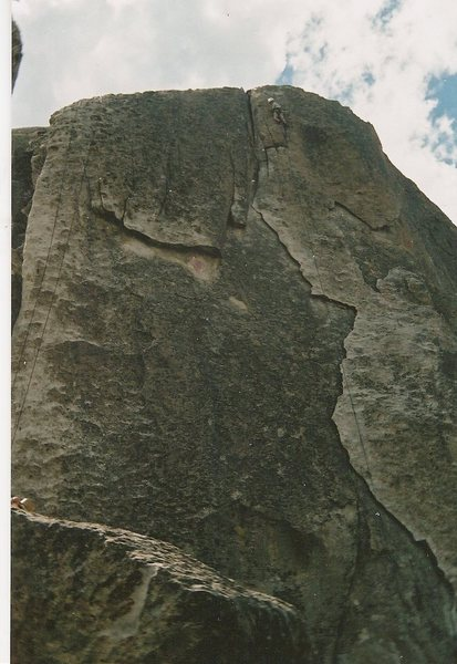 Rock Climbing Photo: Rye Crisp during a YMCA trip. I was 13 at the time...