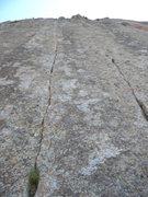 Rock Climbing Photo: The thin cracks....