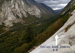 Rock Climbing Photo: Chains at end of P1 of Fallen Goat