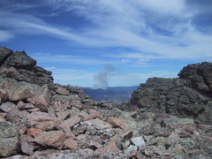 Rock Climbing Photo: Another fire, northwest of Estes Park, flared up w...