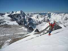Rock Climbing Photo: Awesome backdrop for a awesome ski/board descent.....