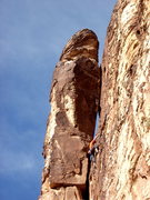 Rock Climbing Photo: Wayne leading Conditional Bliss. Harbingers in the...