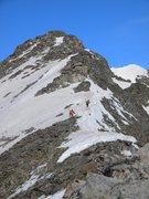 Rock Climbing Photo: Climbing the east ridge of Paiute.