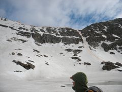 Rock Climbing Photo: Our ascent to the ridge of Paiute.
