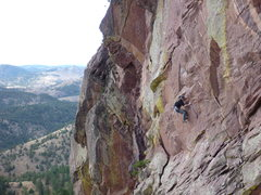 Rock Climbing Photo: Ben getting into the first crux on the way to a so...