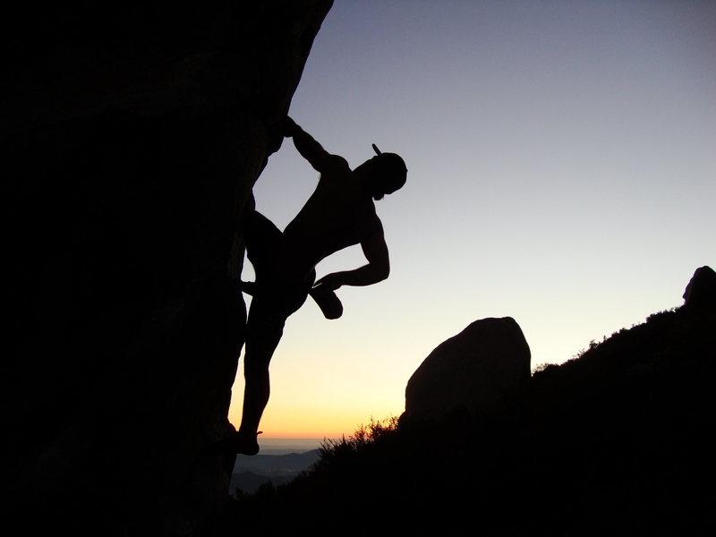 Rock Climbing Photo: Sunset bouldering on Woodson.