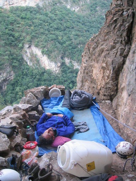 A sleepy morning at base camp.