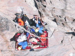 Rock Climbing Photo: View of advanced basecamp at the top of pitch nine...