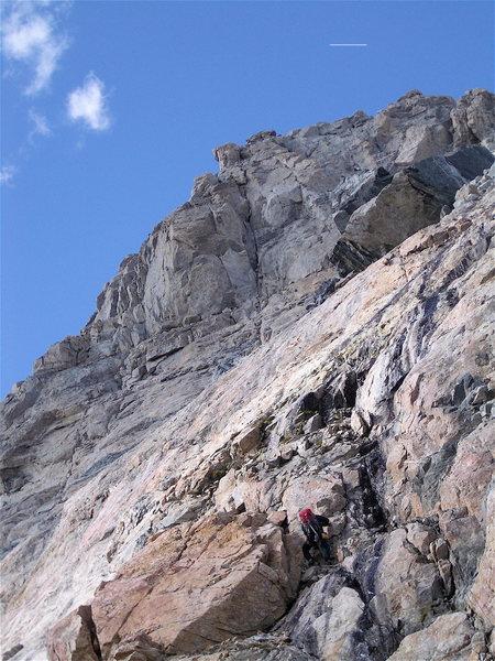 snowless upper East Ridge of the Grand