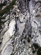 Rock Climbing Photo: Took this picture of a climber leading the Coffin ...