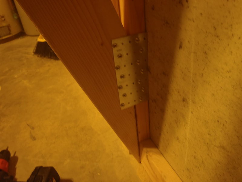 Rock Climbing Photo: Screw plates at base of 2x6
