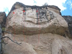 "Rock Climbing Photo: The left side of the ""Heaven"" wall.  Not..."