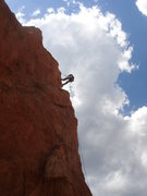 Rock Climbing Photo: Dave W rapping from Potholes.