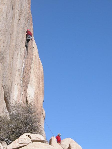 Rock Climbing Photo: Unsent crack at VOM