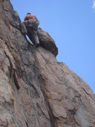 Rock Climbing Photo: Johnson topping out