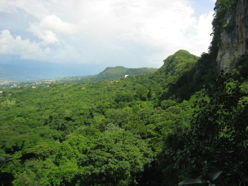 View of Tuxtla Gutierrez from the walls above La Ceiba.