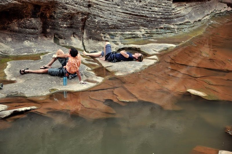 Rock Climbing Photo: chillin' at the Winslow Wall