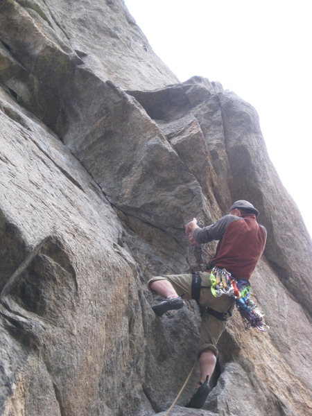 Beginning of the crux.