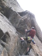 Rock Climbing Photo: Beginning of the crux.