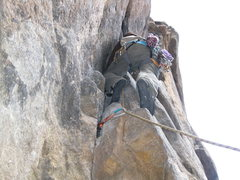 Rock Climbing Photo: Awkward movements on this one.